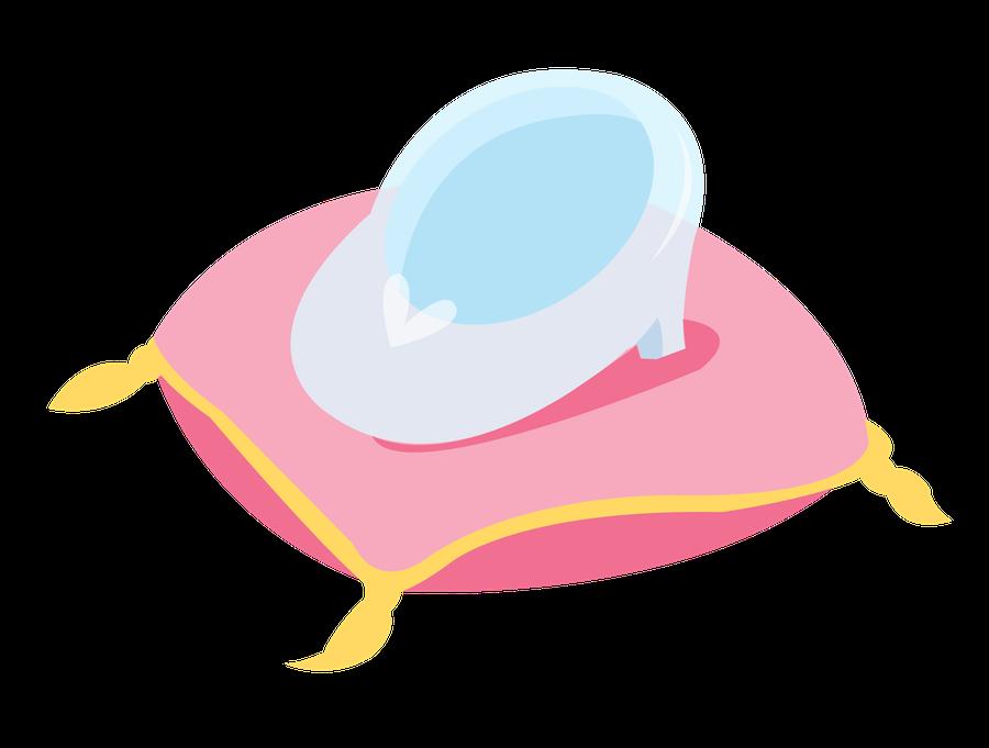 Cinderella glass slipper at. Clipart penquin traceable