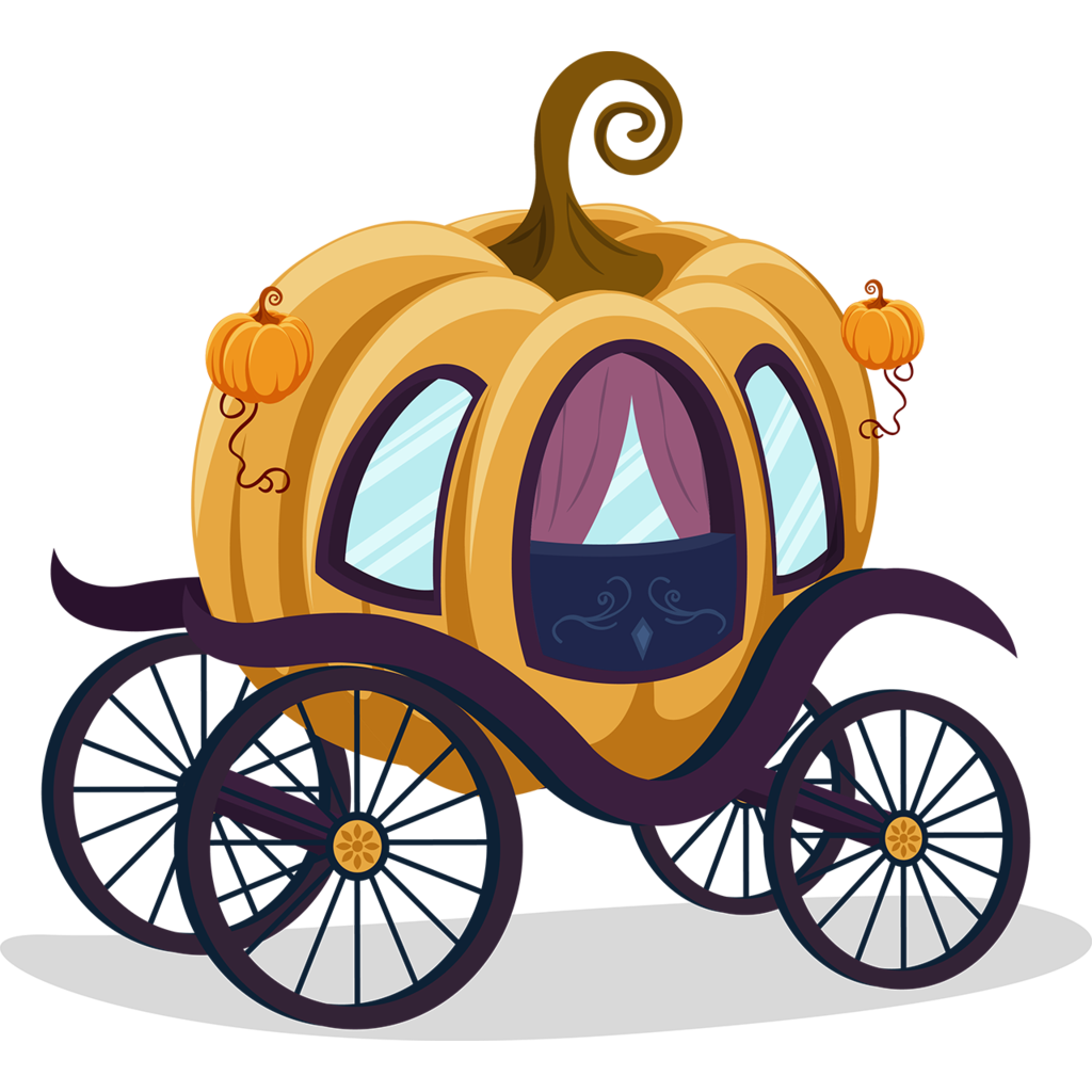 Pumpkin clipart wagon. Cinderella carriage cartoon clip