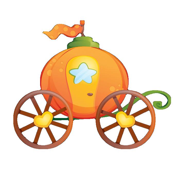 Fairytale clipart carrage. Cinderella pumpkin carriage sticker