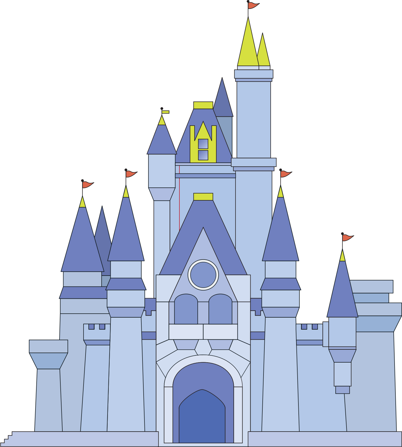 Clipart castle disney. Magic kingdom sleeping beauty