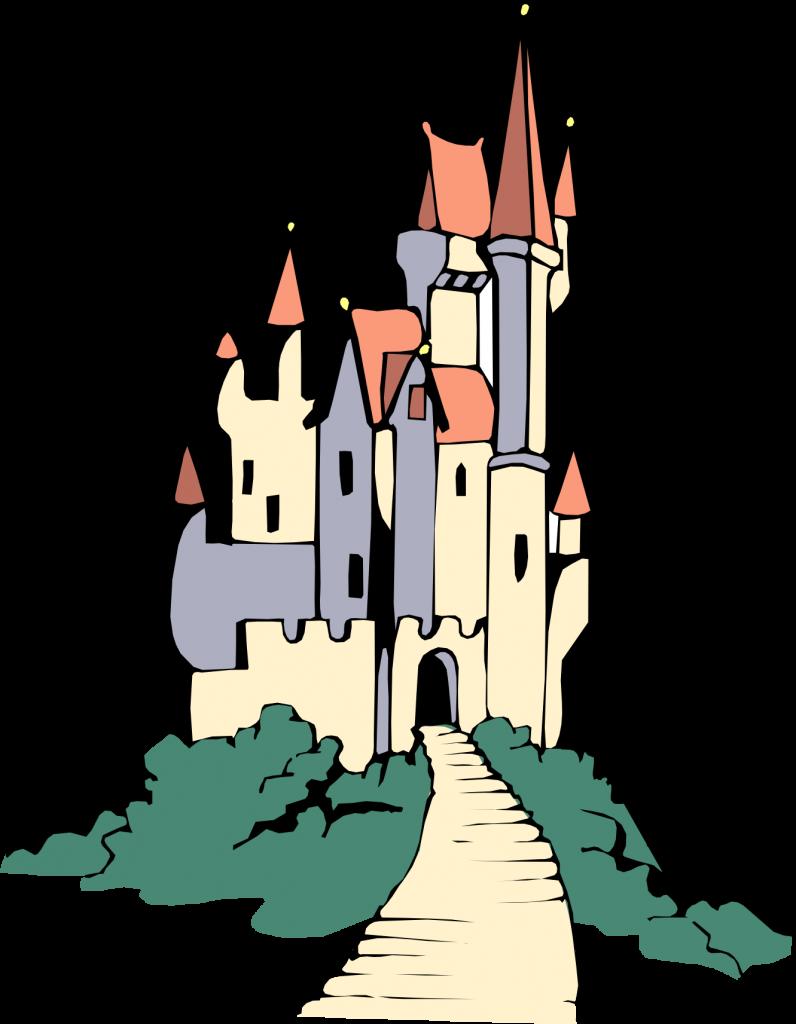 Palace clipart blue castle. Cinderella silhouette clip art