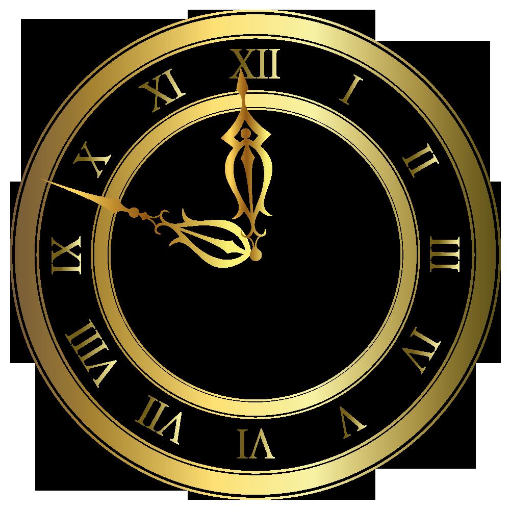 Clock clipart judy. Gold vector by lyotta