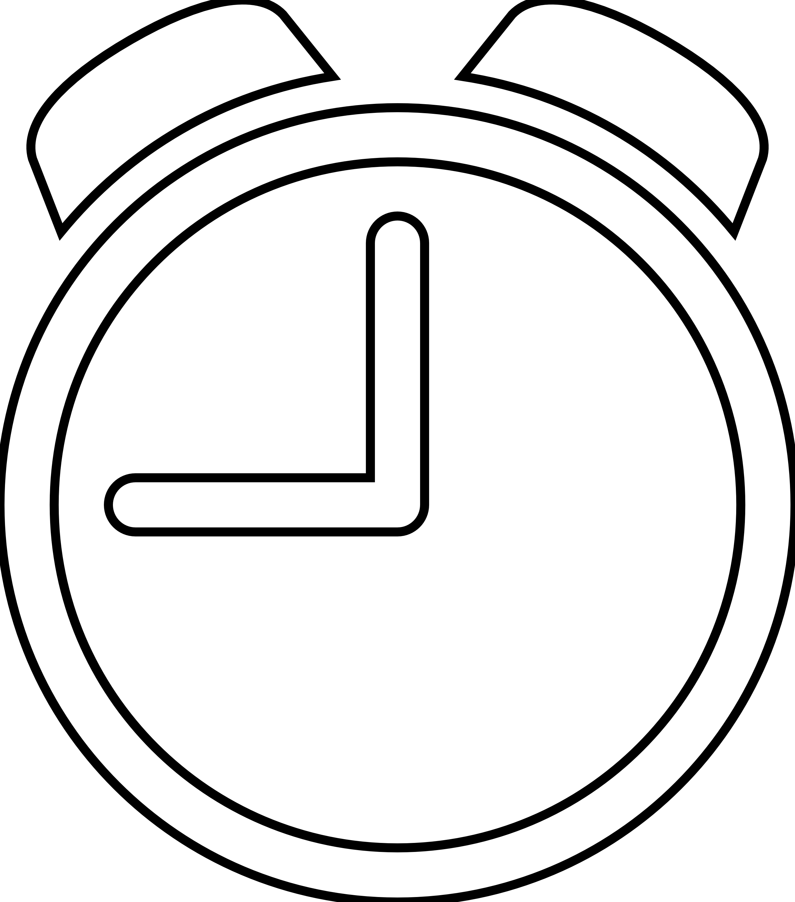 Clock line drawing at. Nickel clipart black and white