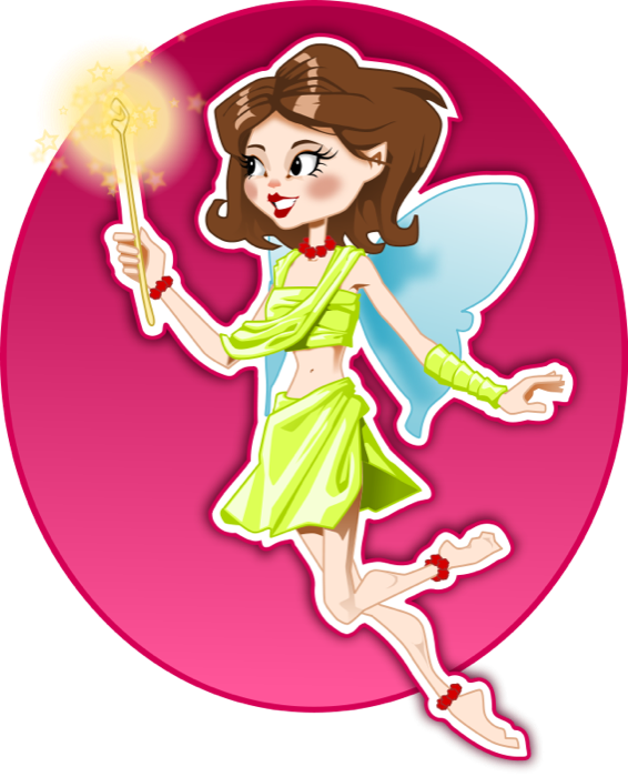 Godmother panda free images. Clipart butterfly fairy
