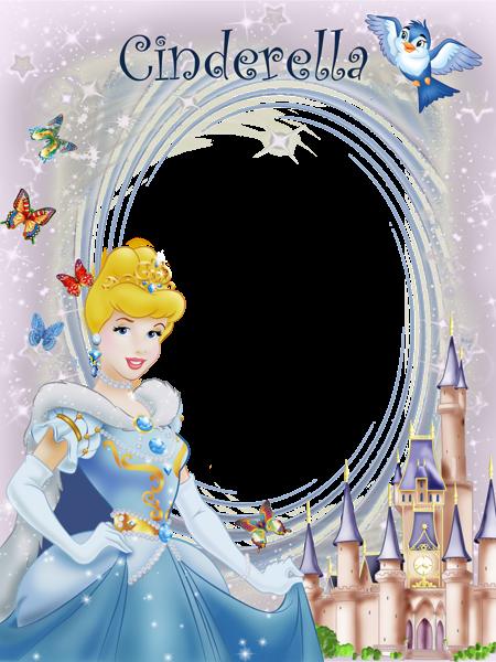 Transparent princess cute frames. Cinderella clipart frame