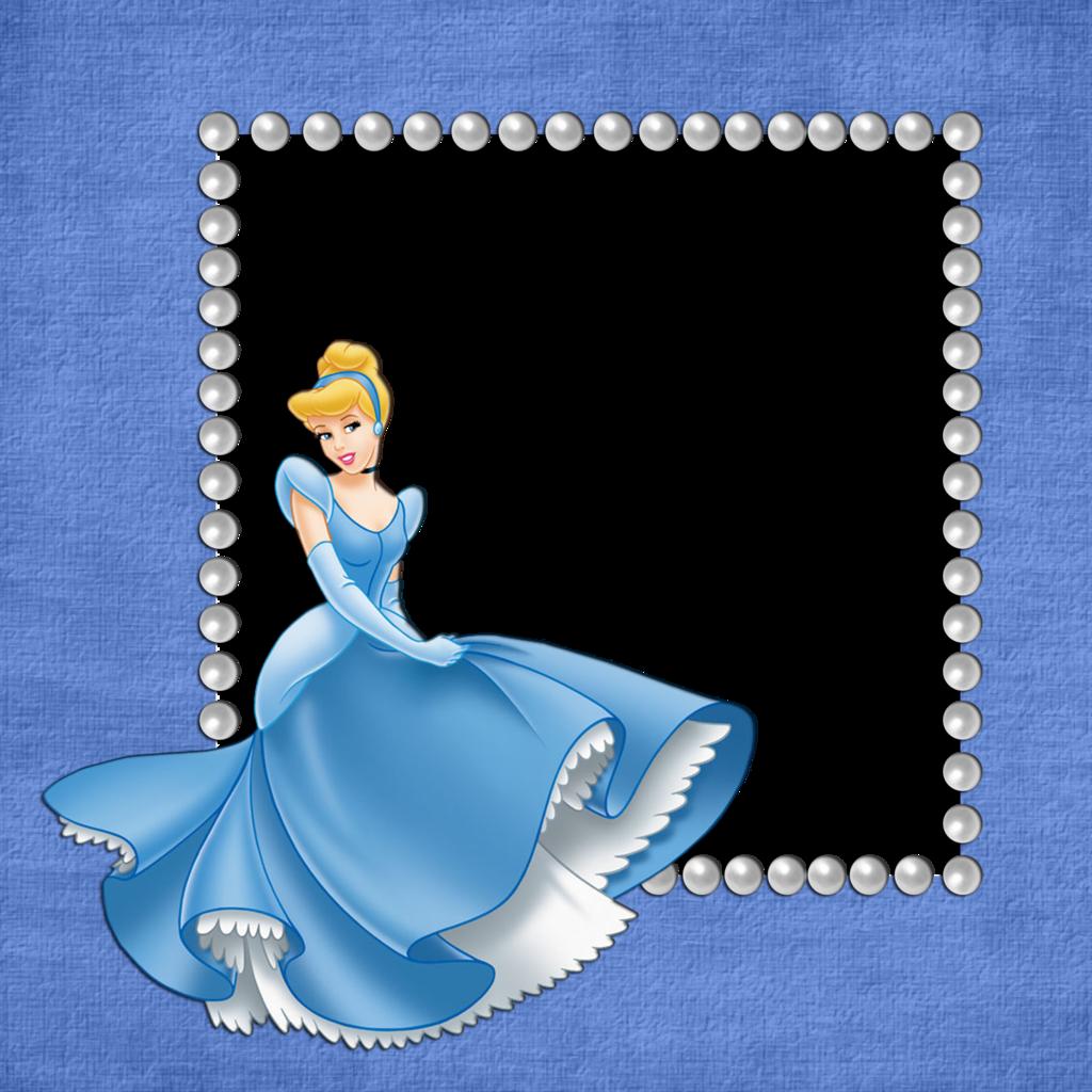 Blue girls transparent with. Cinderella clipart frame