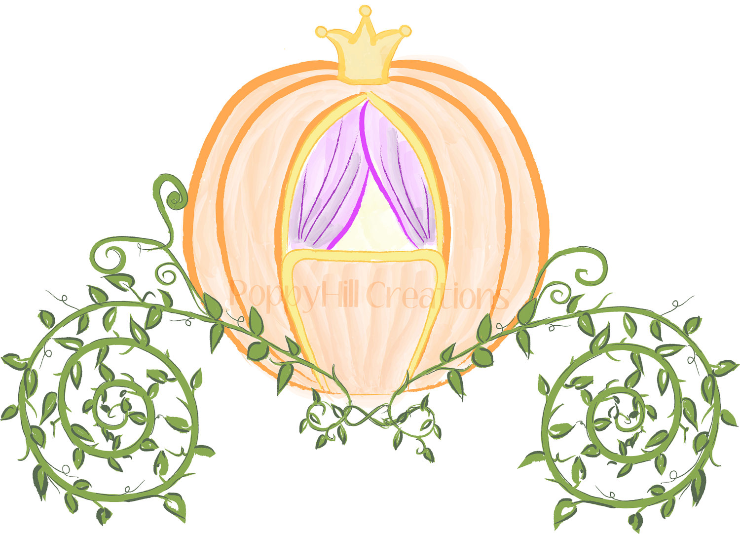 Cinderella clipart gold. Pink and carriage color