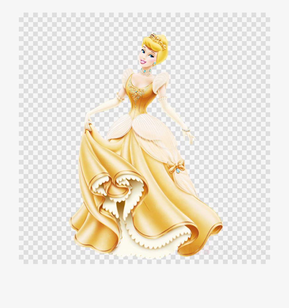 Awesome belle princess transparent. Cinderella clipart gold
