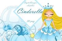 By digitaldesignsandart thehungryjpeg com. Cinderella clipart jpeg