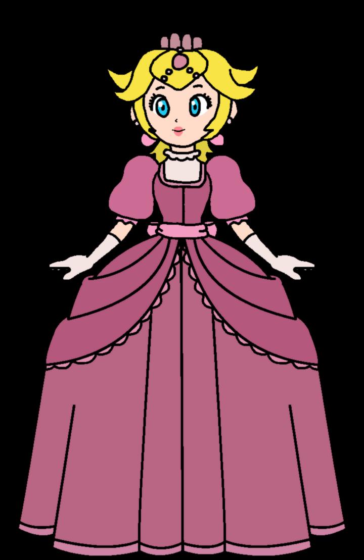 Peach cinderella princess by. Dress clipart vector