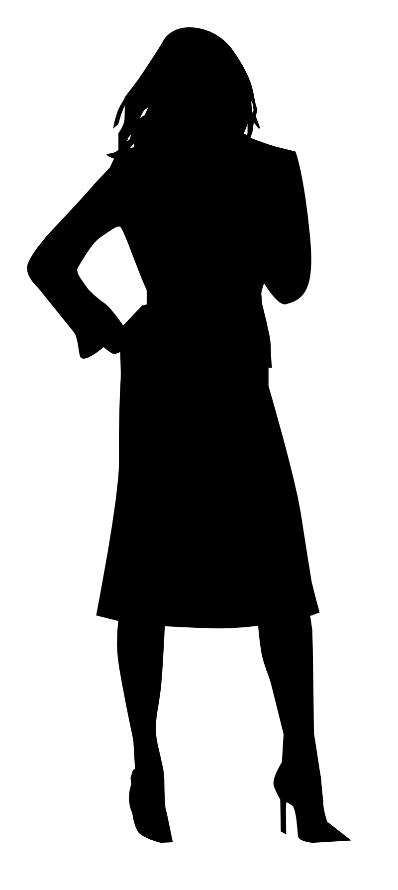 Cinderella silhouette outline at. Exercising clipart black and white