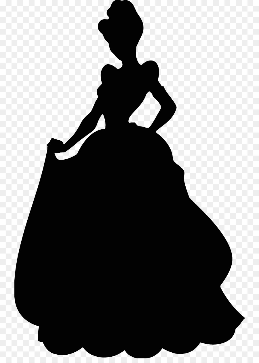 Silhouette png free . Cinderella clipart shadow