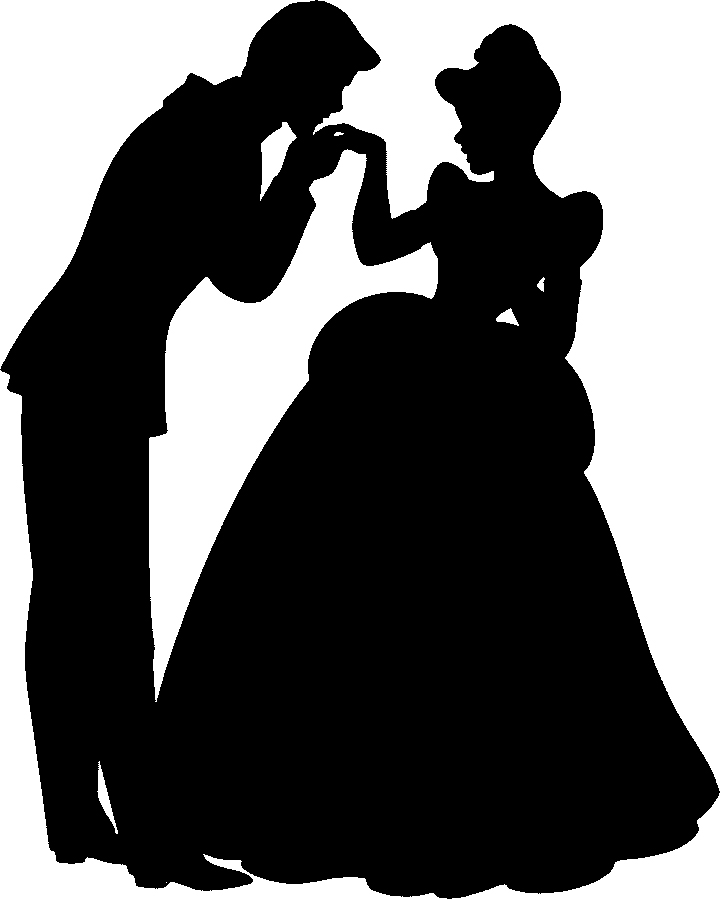 Cinderella clipart shadow. Free download clip art
