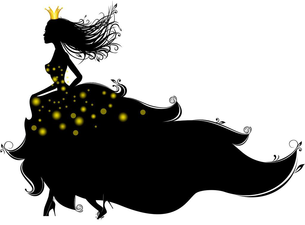 Princess royale royal shadows. Cinderella clipart shadow