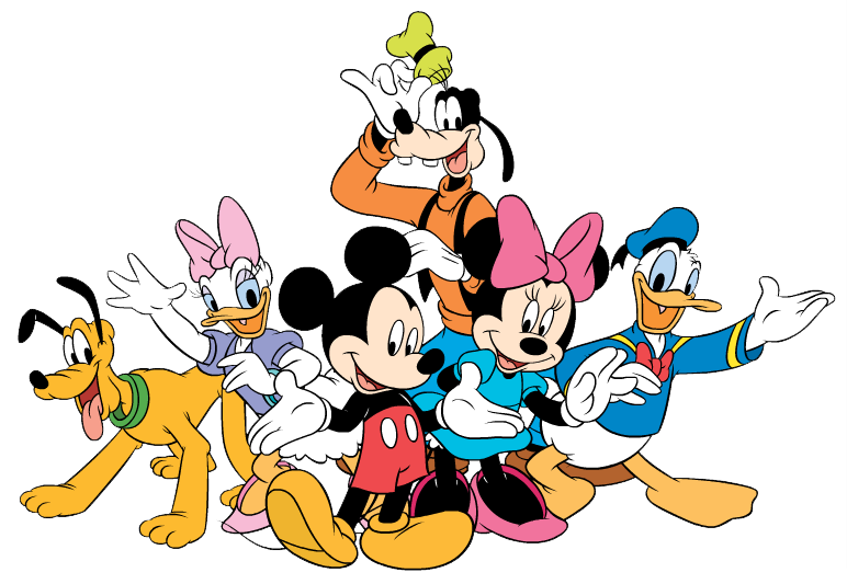 Mickey mouse gang free. Fat clipart grandmother