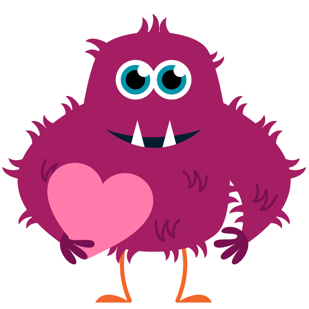 Clipart free monster. Printable valentine at getdrawings