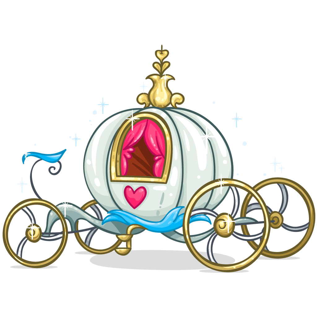 Sleigh clipart carriage. Cinderella horse and buggy