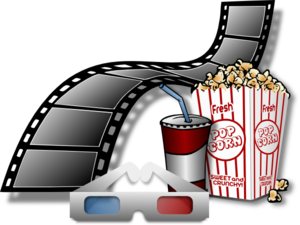 Items clip art at. Cinema clipart