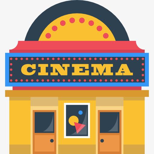 Cartoon watch movie romantic. Cinema clipart