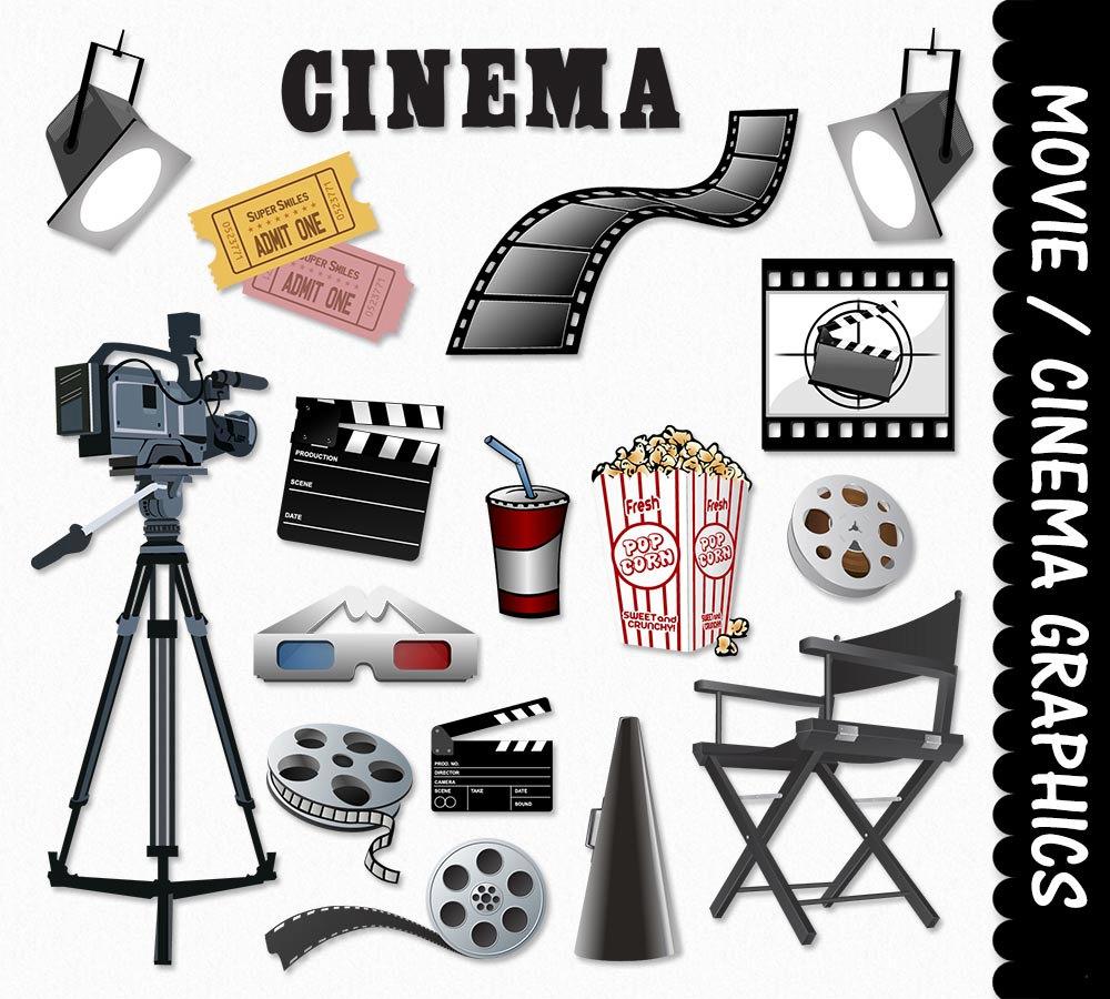 Movie equipment clip art. Film clipart stuff