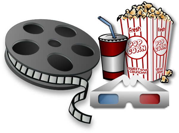 Cinema clipart. Movie theater items clip