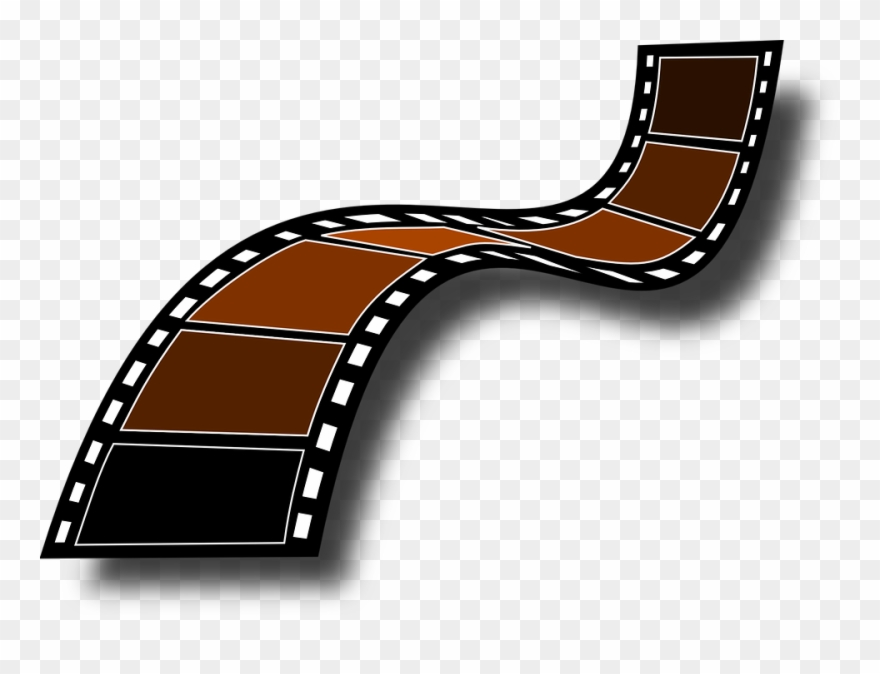 Video recorder film roll. Movie clipart animated