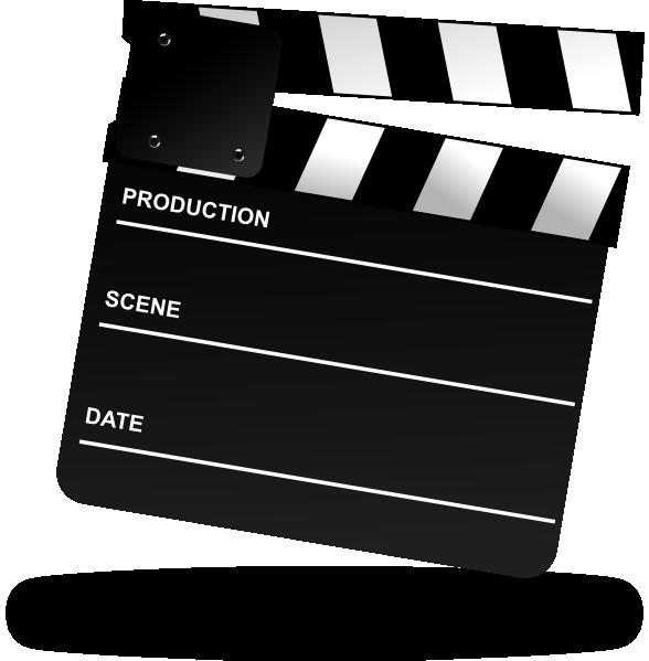 Clapper board clip art. Movie clipart film production