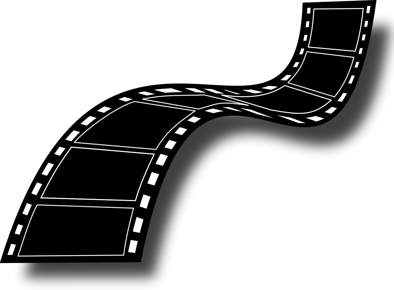 Dniezby film strip free. Clipart road wavy