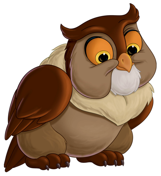 Bambi friend owl transparent. Clipart rock marble