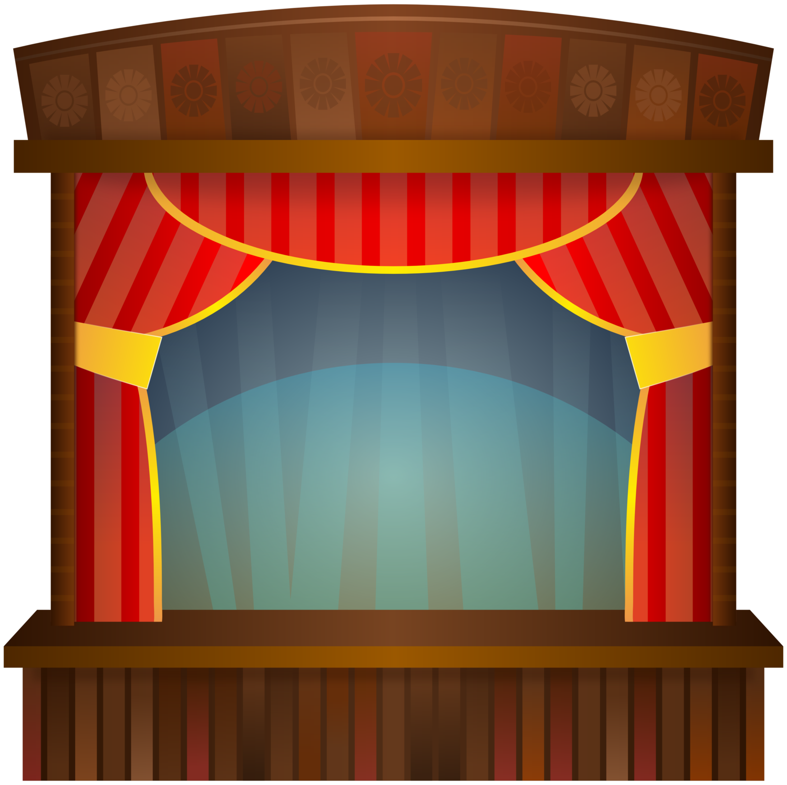 Curtains clipart empty stage. Clip art images panda