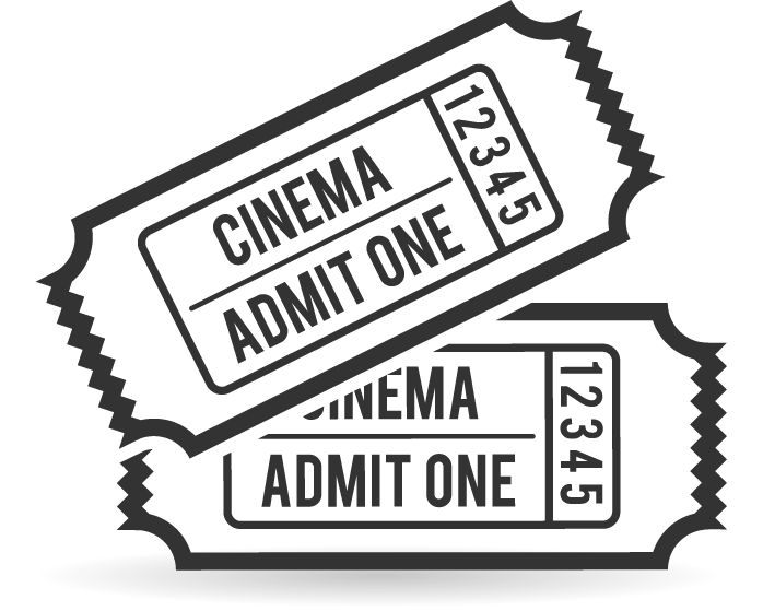 collection of movie. Ticket clipart single