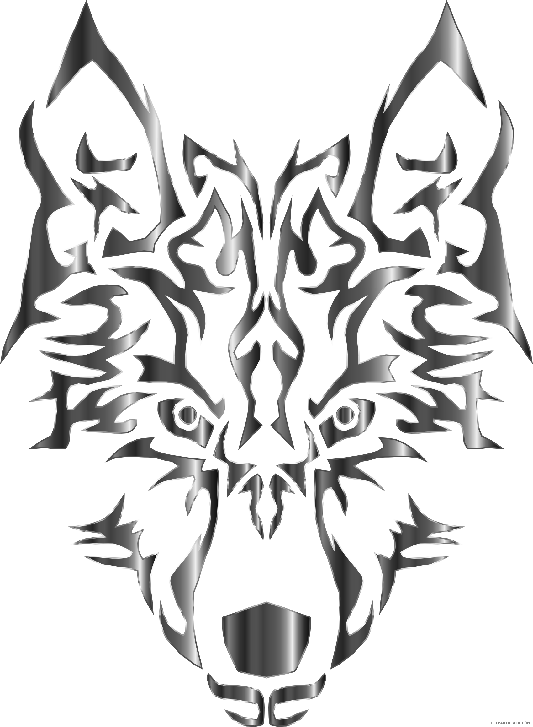 Wolf clipart magic. Chromatic animal free black