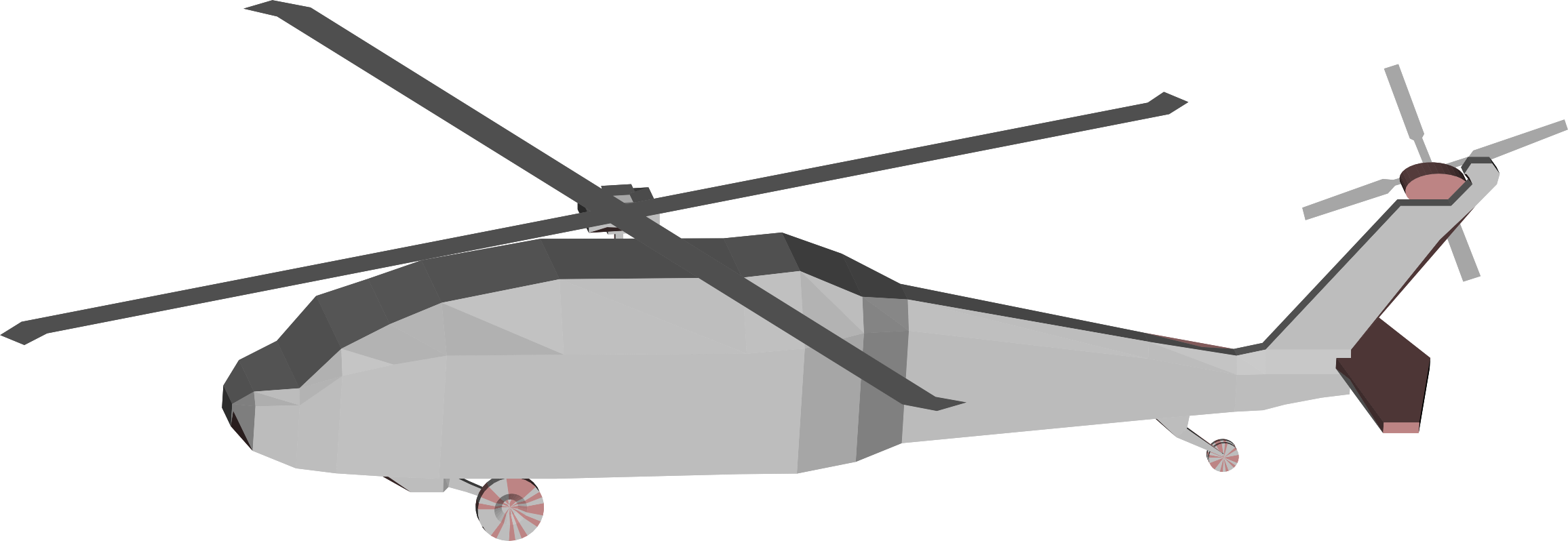 d low poly. Helicopter clipart flying machine