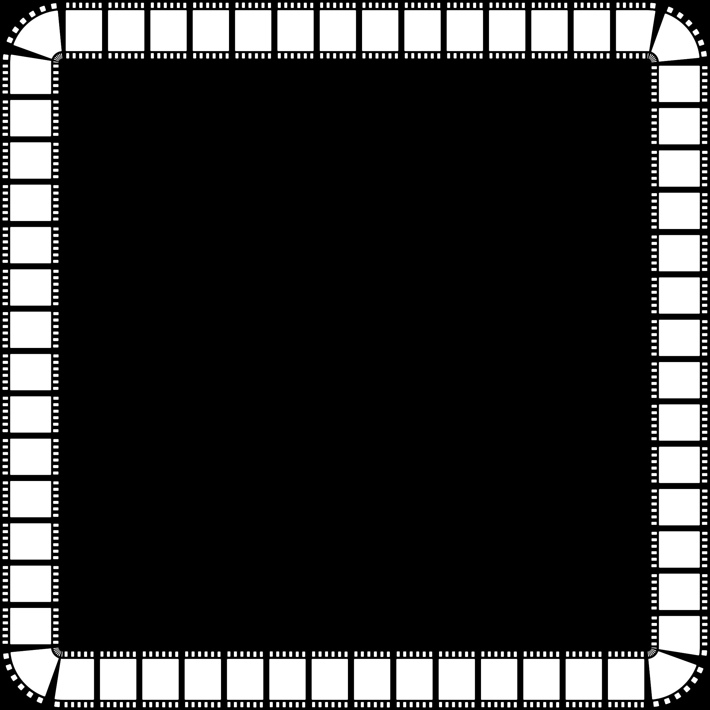 Film strip frame big. Square clipart black border
