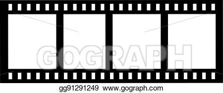 Vector art eps gg. Film clipart camera roll