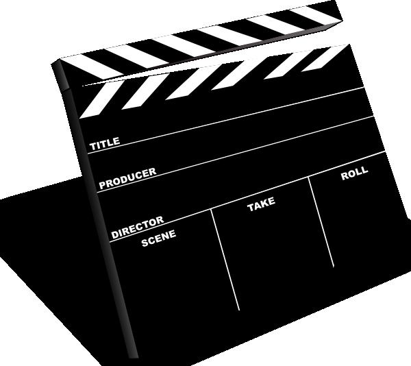 Markers clipart movie. Scene slate clip art
