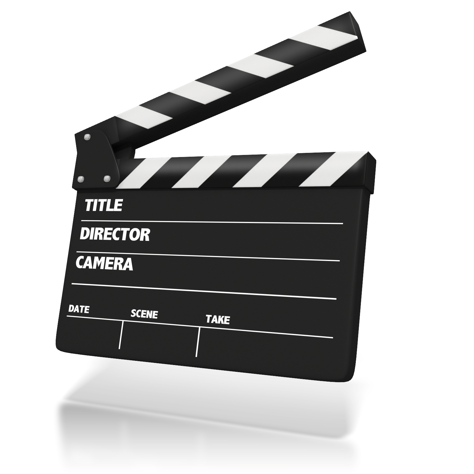 Clapperboard animation presentation clapping. Movie clipart clap