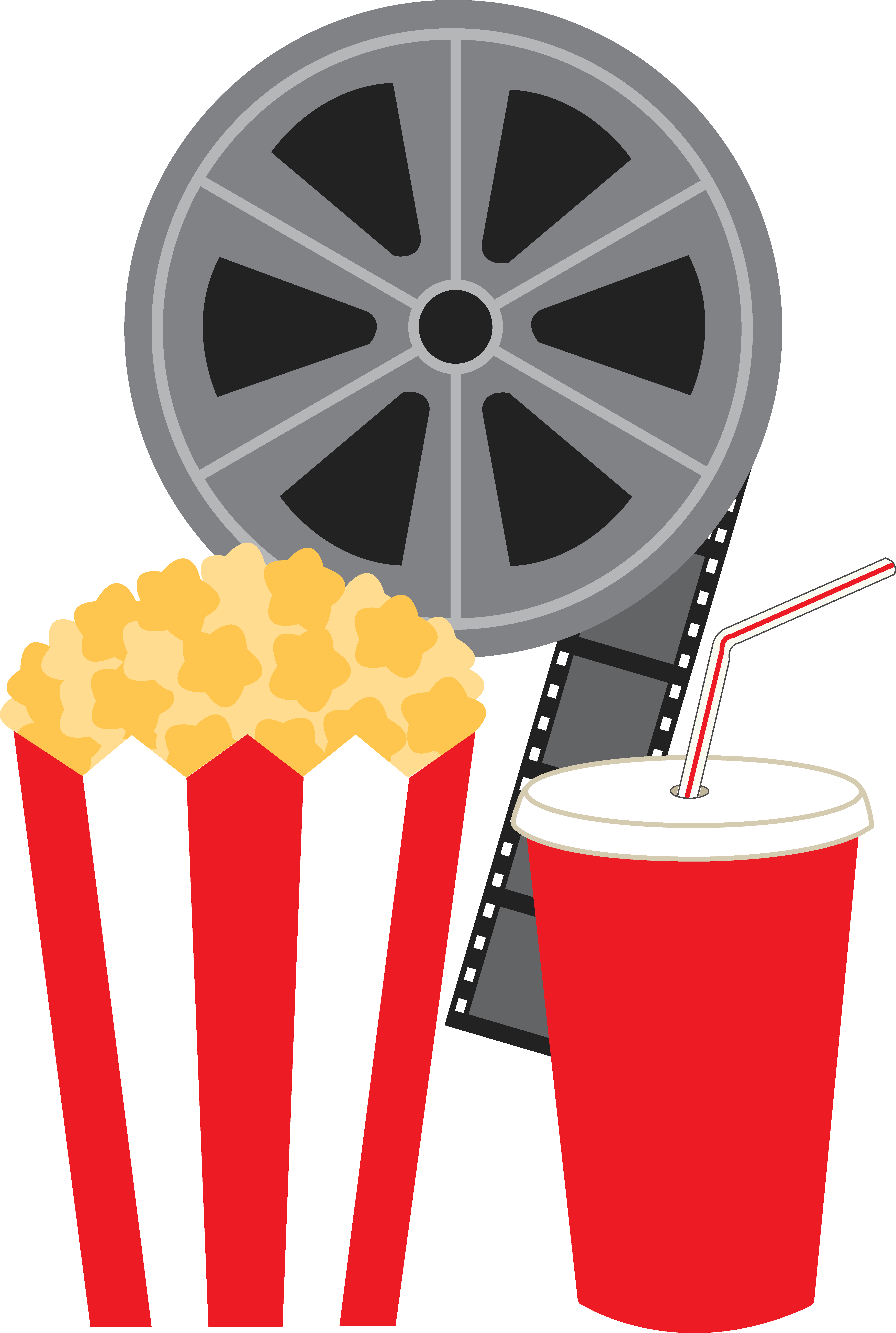 collection of movies. Drinks clipart border