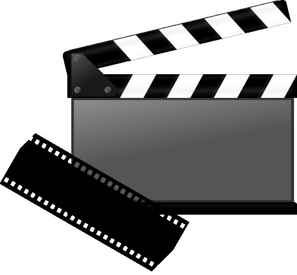 Film clipart clap board. Clapboard clip art at