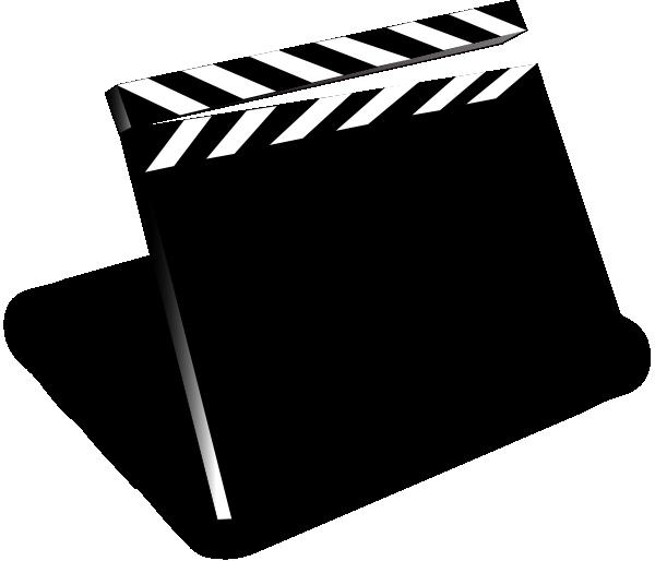 Clapper clip art at. Movie clipart clipboard