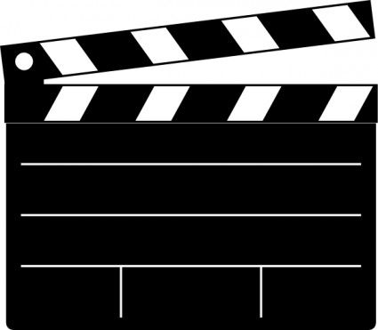 Movie clipart board. Clapper clip art projects