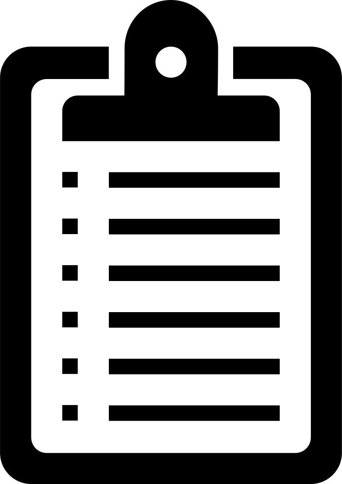 Clipboard clipart clip board. List svg png icon