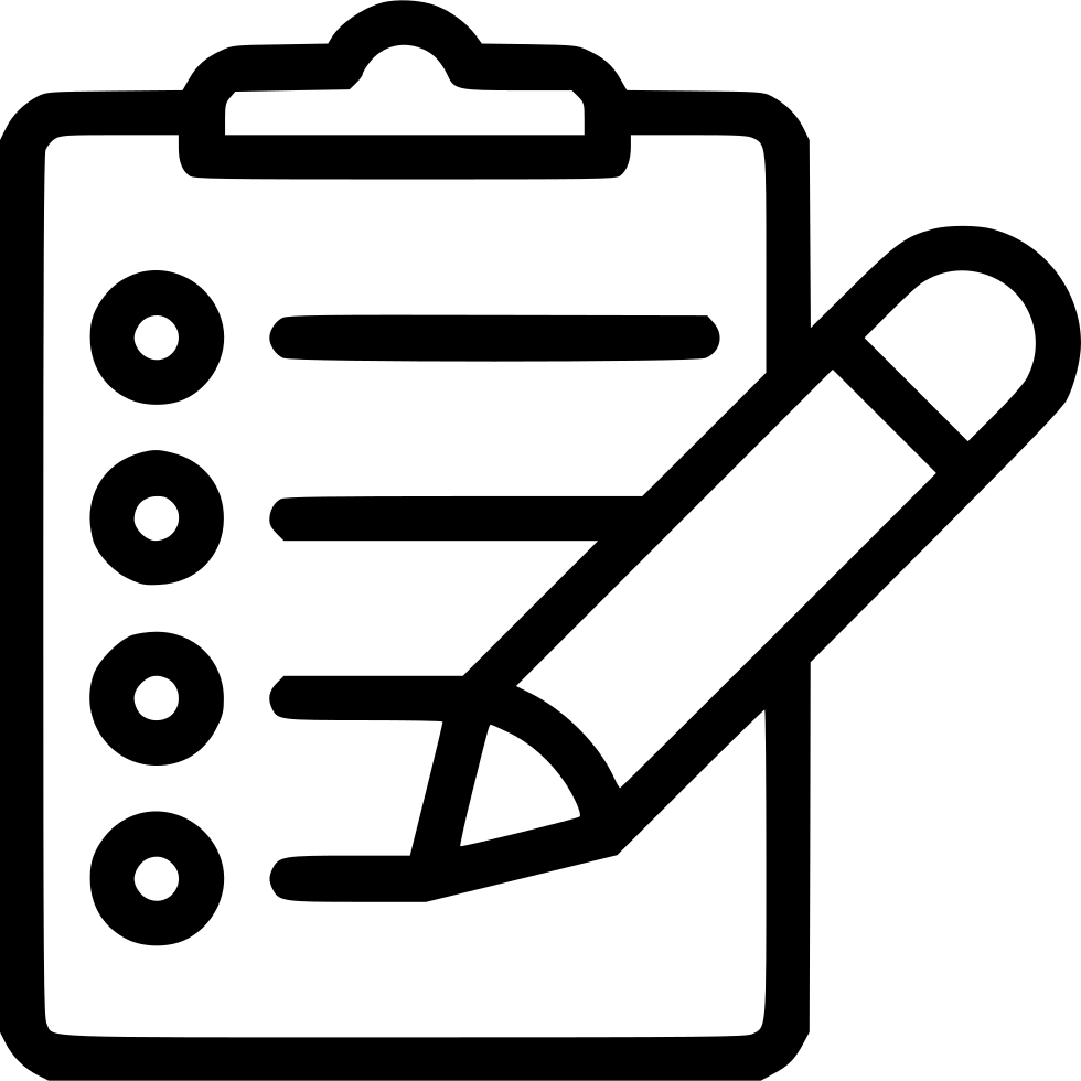 Pencil svg png icon. Document clipart clipboard