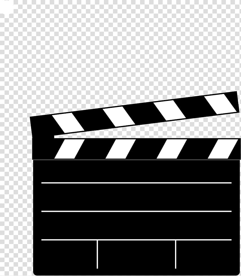 Movie clipart clipboard. Black and white illustration