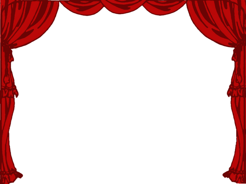 Theatre stage curtain . Curtains clipart theater director