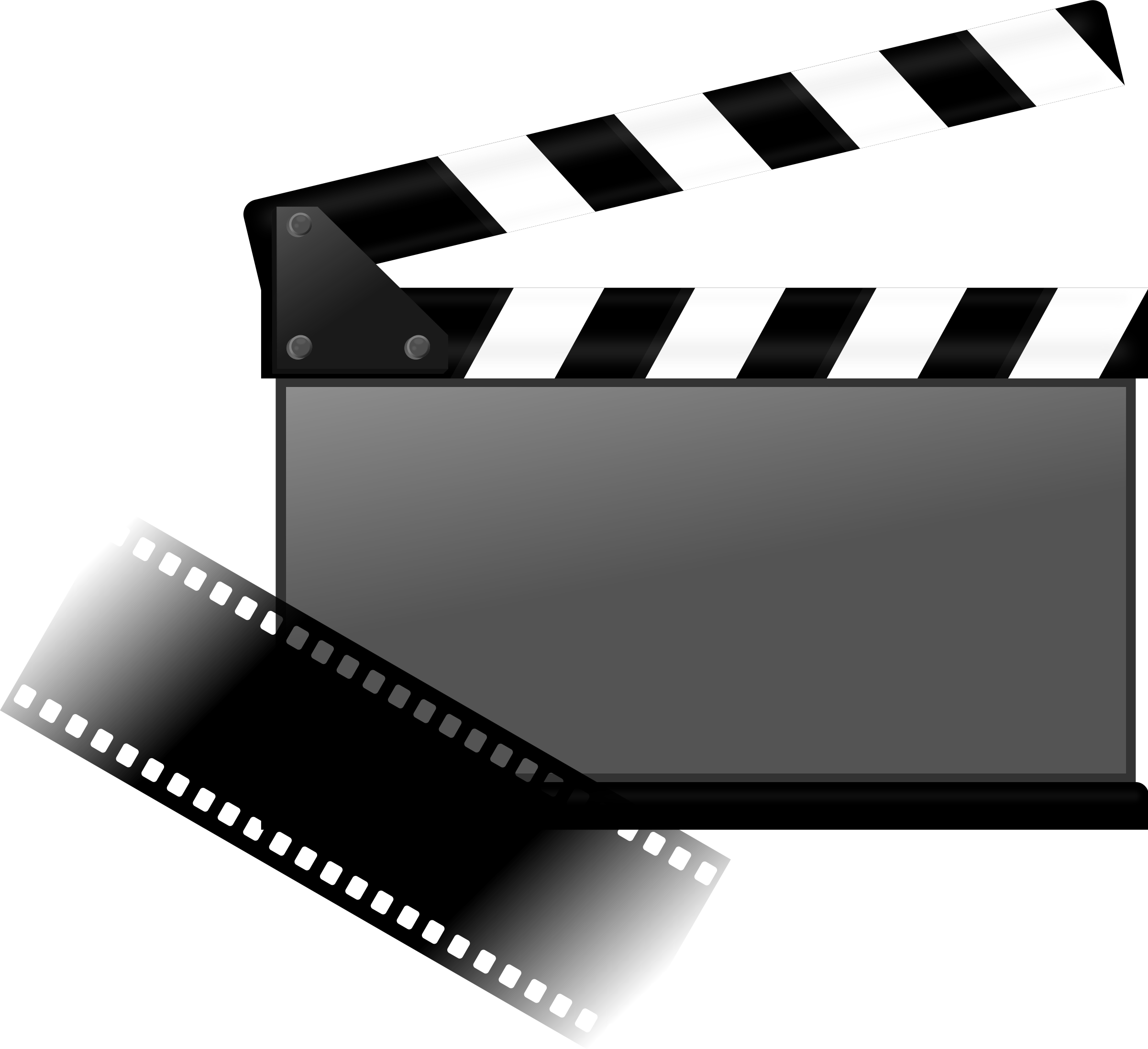 Theatre clipart clapboard. Film group hybrid and