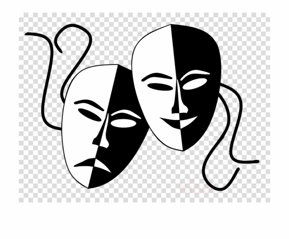 Theatre transparent png image. Mask clipart drama