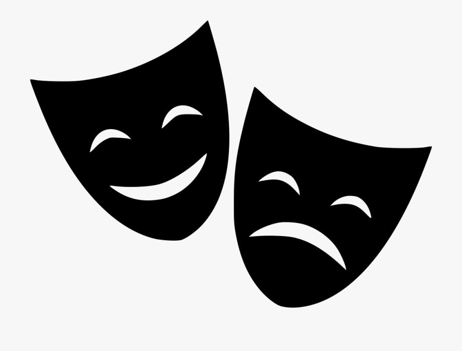 Drama clipart drama greek. Cinema mask happy and