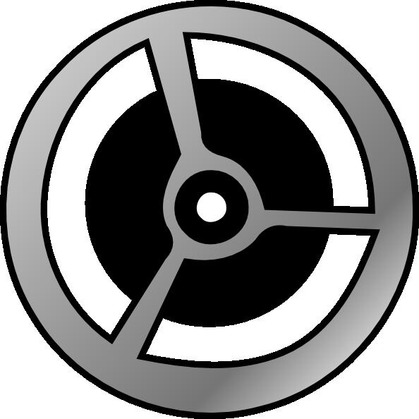 Cinema film clip art. Wheel clipart movie