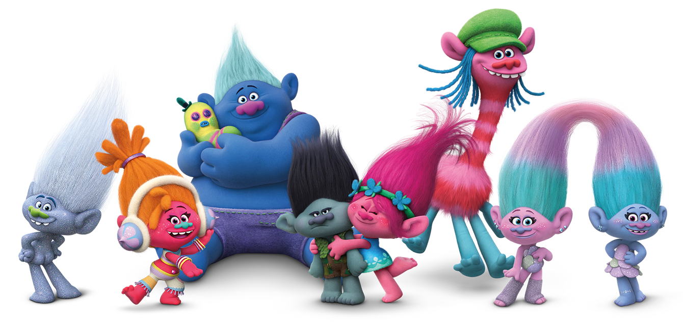 Trolls png images. Treat the kids to